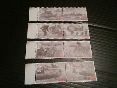 Isle Of Man 2004 1131-1138 60Th Anniv Of D-Day Mnh