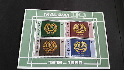 Malawi 1969 Sg Ms328 International Labour Organisation Miniature Sheet  Mnh