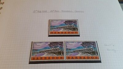 Barbados 1968 Sg 371 20Th Anniv Of Economic .with Short L Variety Mnh