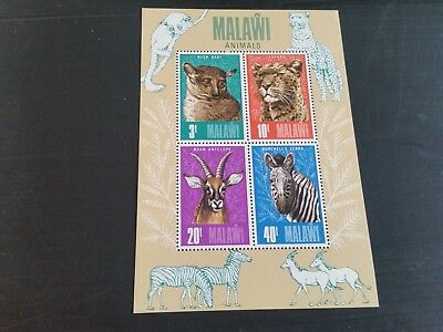 Malawi 1976 Sg Ms500 Animals Mnh  (Q)