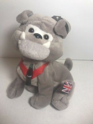 COCA COLA Dover the Bulldog England UK bean bag plush International collection