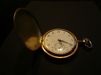 "Alte Taschenuhr Star Watch Case Ludington,""Made of two plates of solid gold...."""