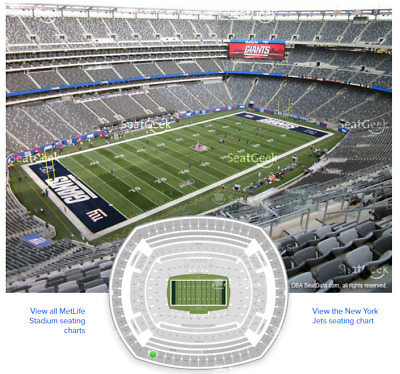 2 NY Giants vs Dallas Cowboys Tickets INCLUDING parking pass