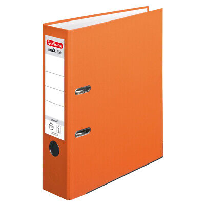 Herlitz 10556470 Ordner maX.file protect A4 8cm orange Einstecksch.