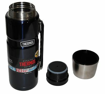 Thermos Stainless King 40-Ounce Beverage Bottle, Midnight Blue SK3010MBW4
