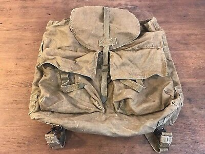 Czech Army M60 Military Canvas Backpack Rucksack (B1)