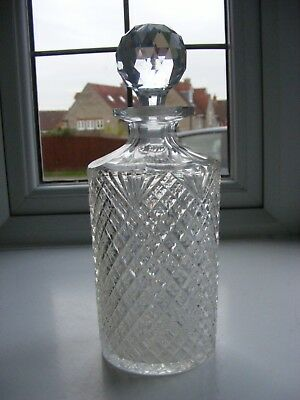 Antique Round Cut Glass Decanter
