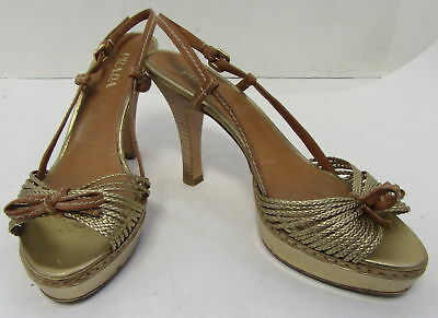 ce9b4bb766e0 PRADA WOMENS 9 39 USED Braided Cord Strap Flat Sandals Italy Made ...
