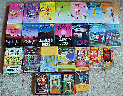 Lot of 25 Cozy Mysteries Carolyn Haines James D. Doss Southern Belle Mystery