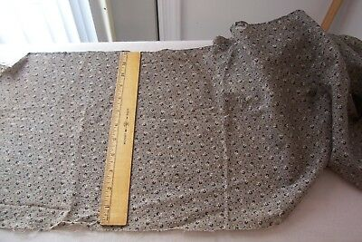 Antique Vtg 1800's  19th Century Cotton  Well Worn Fabric Black and White