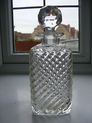 Vintage Square Cut Glass Decanter