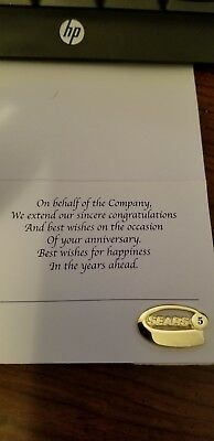 Sears 5 Year Service Pin - 1/10 10 gold