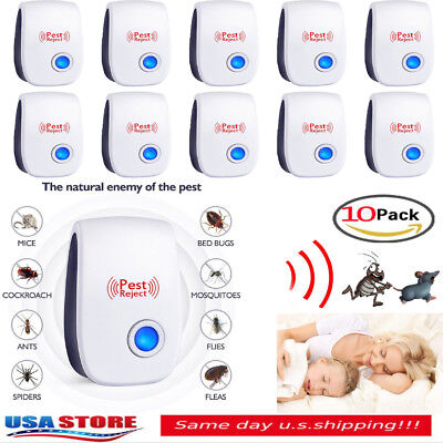Lot Electronic Ultrasonic Pest Reject Mosquito Cockroach Mouse Killer Repeller Y