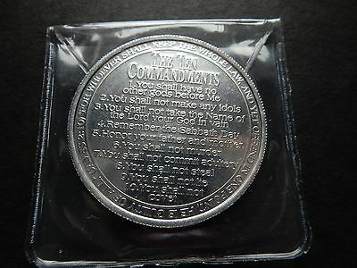 The Ten Commandment Coin Minted on them US Silver Dollar Size, UNC Alloy USA UK