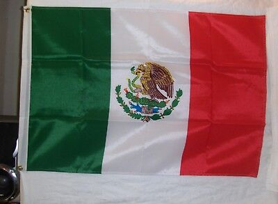 3 Foot x 2 Foot Mexican Rayon Flag  -  New Condition ( L85