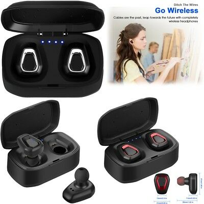 TWS True Wireless Bluetooth Earbuds Headphones Stereo Earphones for IOS Android