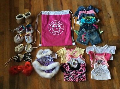 BABW Lot Build A Bear Workshop Clothes Shoes Shirts Jean Skirts Pants Backpack