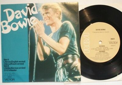 """Australia E.p. Heroes Sung In English,german + French David Bowie 7"""""""