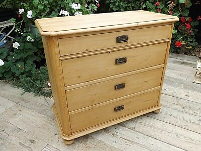 Wow! Old Antique Stripped & Waxed Pine Chest Drawers. Restored. We Deliver!