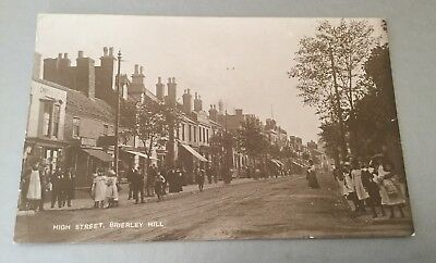 High Street Brierley Hill Rp Postcard.published By John Price. Posted 1913