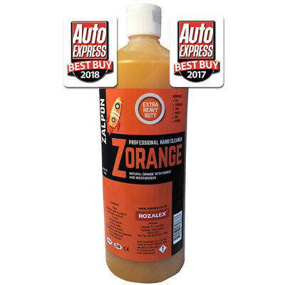 ROZALEX Zalpon ZOrange - Extra heavy-duty hand cleaner with pumice 1 ltr bottle