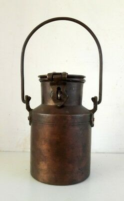 Vintage old Hand Crafted Brass Indian Kitchenware Milk Pot Milk Oil Container