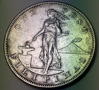 1903-S ONE PESO SILVER COIN - PHILIPPINES - 90% SILVER - 11.3 Million Mintage