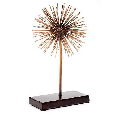 Rose Gold Copper Starburst Sculpture with Base (Small)