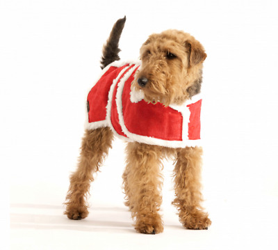 Hailey & Oscar, RED Christmas Wool Dog Coat (Small) 10 inch Special Offer XMAS