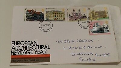 First Day Cover  European Architectural Heritage Year 1975