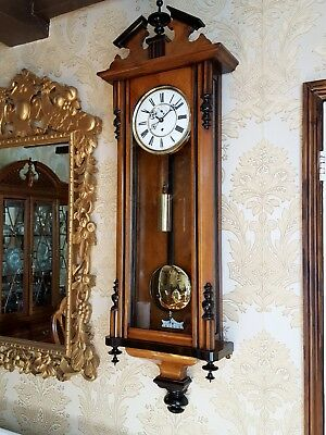 Antique 1 weight Vienna regulator wall Clock