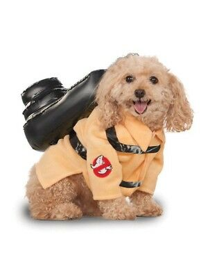 Medium(11-20 lbs) Dog Ghostbusters Jumpsuit Costume with Proton Pack