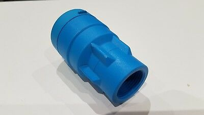 "John Guest MDPE pipe fitting - bag of 2 - connector 25mm to 3/4"" female"