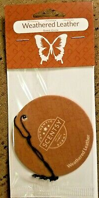 Scentsy WEATHERED LEATHER Scent circle FREE SHIPPING