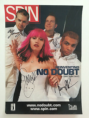 """NO DOUBT Autograph Signed Poster Gwen Stefani SPIN Cover 12"""" x 17"""""""