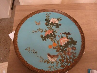 Cloisonne meiji period charger