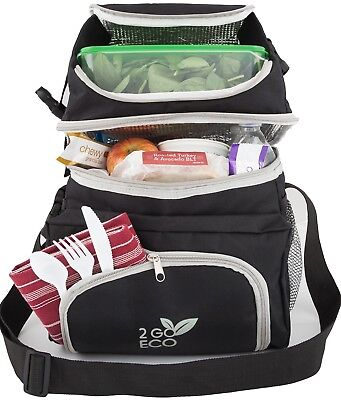 Freezable Lunch Bag Meal Prep Soft Sided Cooler Box Adult Men Women Insulated