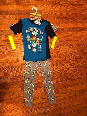New With Tags Boy's Minecraft Sleepwear, Set Of 2, Multicolored, Size 10