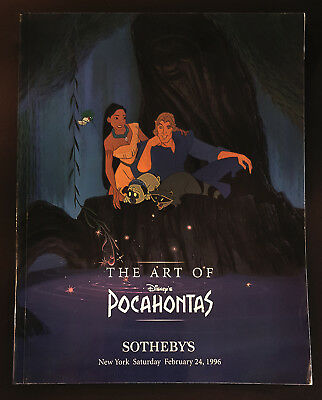 The Art of Disney's Pocahontas 1996 - Sotheby's Auction Catalog - Paperback