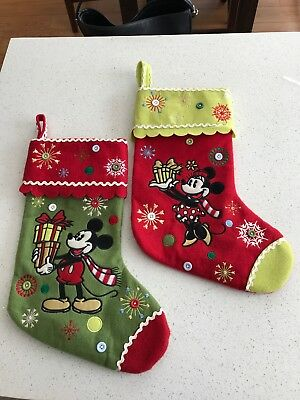 Mickey and Minnie Stockings. Two Stockings