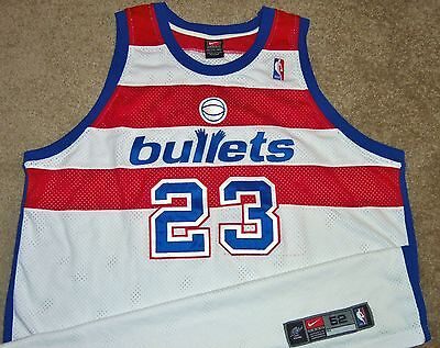 newest d39fc cac25 VTG AUTHENTIC MICHAEL Jordan Washington Bullets Nba Nike Wizards Jersey 52  Sewn