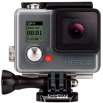 GoPro HERO+ Action Camera Wi-Fi/Bluetooth, LCD, 1080P, 8MP, Waterproof 131'