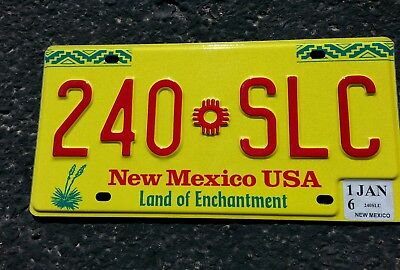 》 New Mexico  Zia Car Plate, Reflective * Embossed