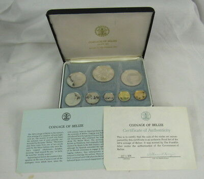Belize 1974 Proof Set In Case With Coa
