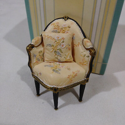 Dollhouse miniatures Willitts Take A Seat by Raine Corner Chair w/ Pillow 1:12