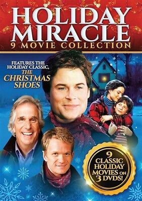 HOLIDAY MIRACLE 9 MOVIE COLLECTION New DVD Christmas Shoes Blessing Hope Canaan