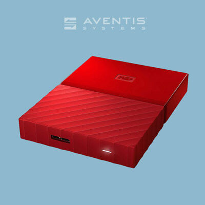 WD My Passport Red 2TB Portable External Storage Drive / 1 Year Warranty