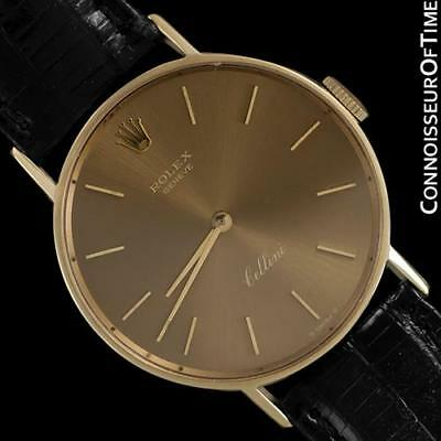 1974 ROLEX CELLINI Vintage Mens 31mm Round 14K Gold Watch - Minty with Warranty