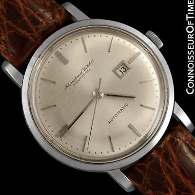 1963 IWC Vintage Mens Watch, Cal. 8531 SS Steel - Pleasing & Original, Warranty
