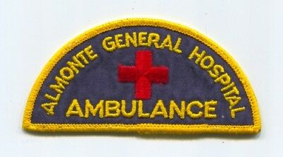 Almonte General Hospital Ambulance Ems Patch Canada Emt Paramedic Emergency Old